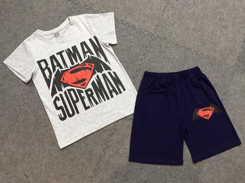 565: BỘ BADMAN/SUPERMAN BT SZ ĐẠI 8 - 14t. 1 ri 7 bộ là 1 mầu.