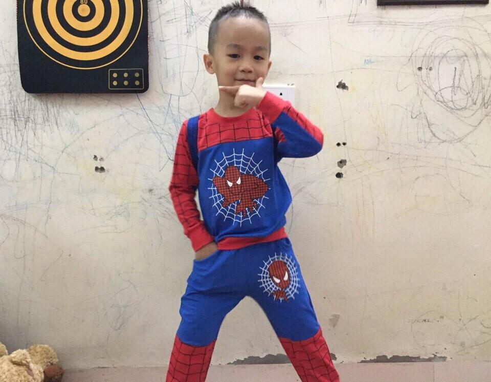 674: QUÁ ĐẸP BỘ BT SPIDERMAN BT SIÊU HOT - Made in Vietnam. - Size 1 - 7t. 1 ri 7 bộ