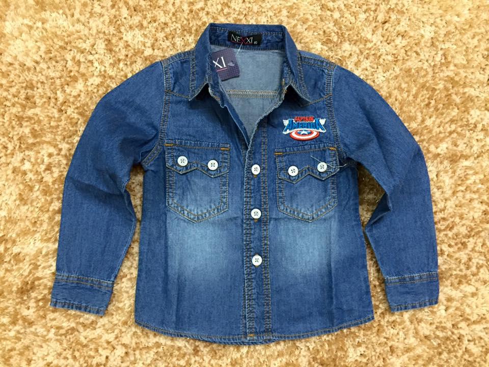 677 Size 2t đến 8t. 1 ri 7 áo - Bò mài 2 màu đậm nhạt, thêu cực đẹp