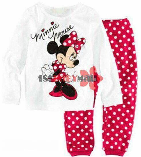 715,  Bộ Minnie Mouse chấm bi siêu xinh- Size 1 - 7t.