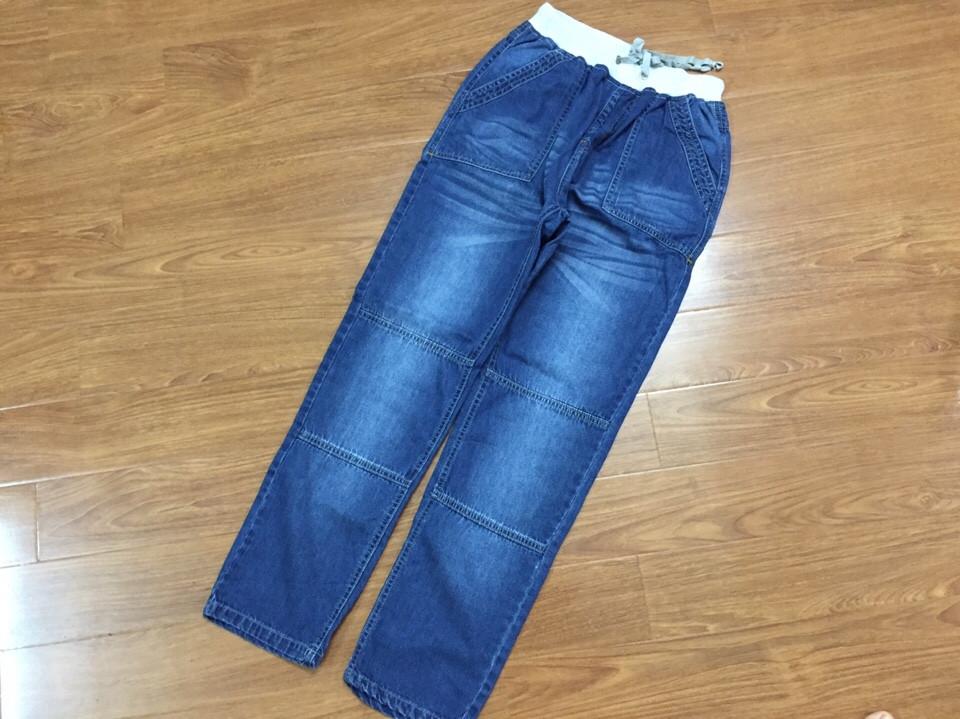 733: QUẦN BÒ DÀI BÉ TRAI SIÊU ĐẠI - Size 11 - 16t ( max 60 kg). 1 ri 6 quần, mài 2 mầu đậm nhạt