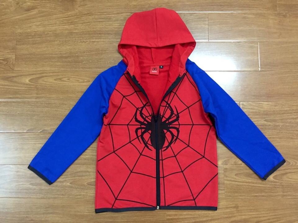 739-ÁO KHOÁC NỈ DA CÁ KÉO KHÓA SPIDERMAN VÀ BATMAN - Size 2 - 8t. 1 ri 7 áo là 1 mầu. Khách được chọn mầu