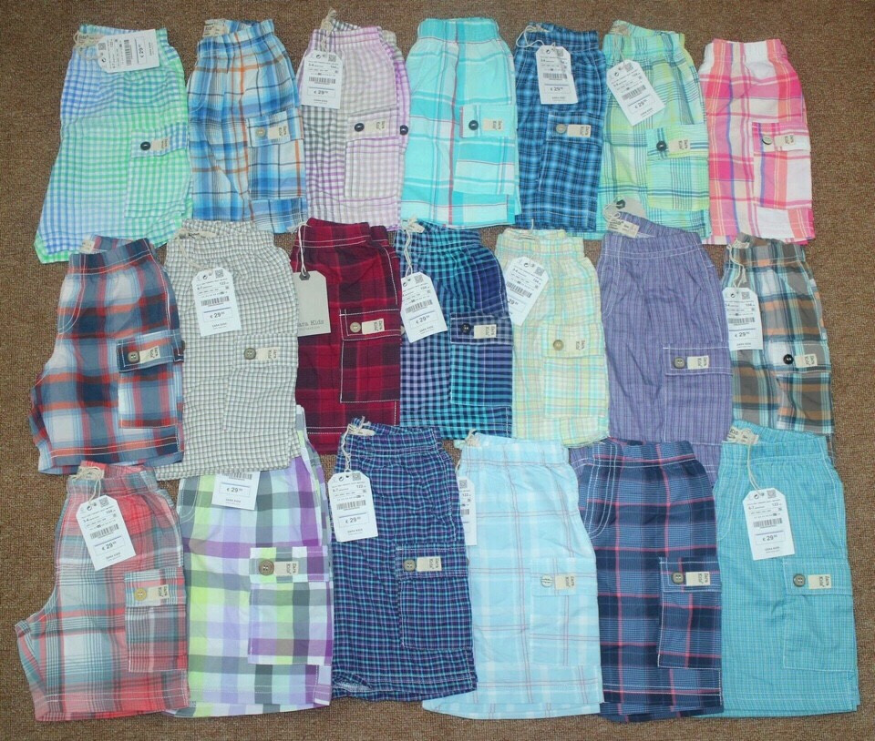 678 HẾT  Quần Shorts kẻ caro lưng chun BT Zara Kids